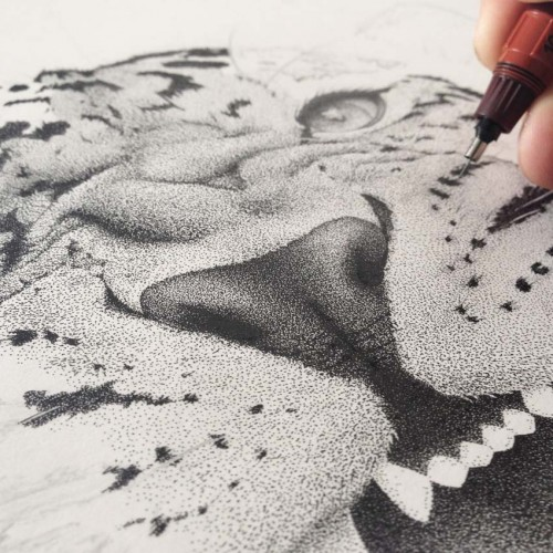 Pointillisme: hand lettering & illustration